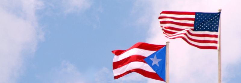 Puerto Rican and American Flags